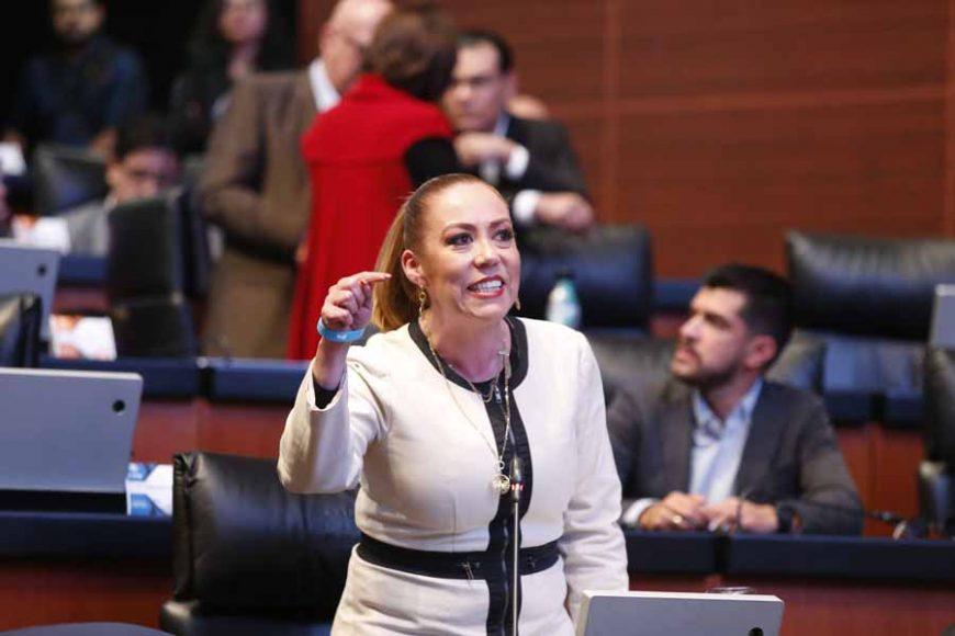 Intervención desde su escaño de la senadora Alejandra Reynoso Sánchez para referirse a la manifestación de los padres de niños con cáncer.