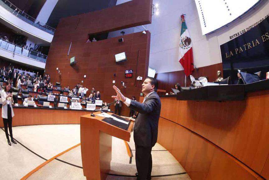 Intervención del senador Damián Zepeda Vidales para referirse a la moción de procedimiento presentada por el senador Ricardo Monreal Ávila, del Grupo Parlamentario de Morena, con la que solicita se consulte al Pleno si autoriza se reponga el procedimiento de la tercera elección para ocupar el cargo de la persona titular de la CNDH.
