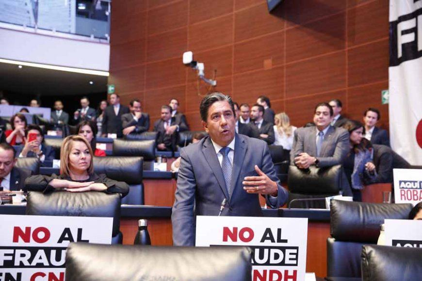 Senador Marco Antonio Gama Basarte, para referirse al proceso de elección del titular de la Comisión Nacional de los Derechos Humanos