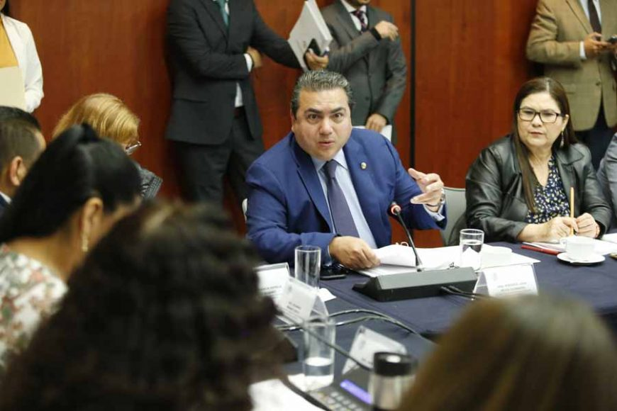 Participación de la senadora Xóchitl Gálvez Ruiz y el senador Roberto Moya Clemente durante la reunión de las Comisiones Unidas de Cultura, de Asuntos Indígenas y de Estudios Legislativos, Segunda.
