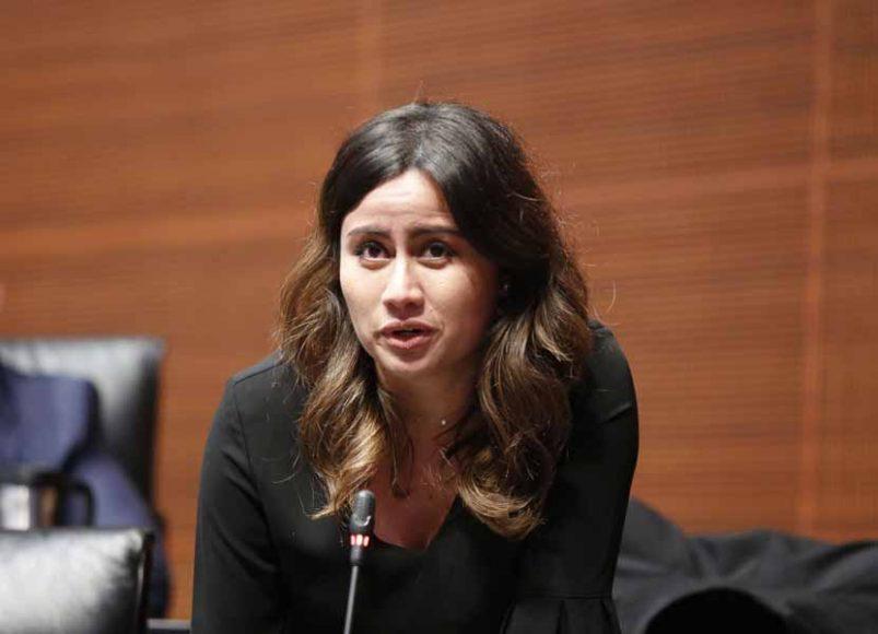 Senadora Indira Rosales San Román, al intervenir desde su escaño