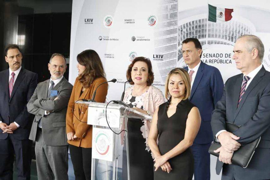 AUDIO DE LA CONFERENCIA DE PRENSA CONCEDIDA POR LAS Y LOS SENADORES DEL PAN, ENCABEZADOS POR EL COORDINADOR, MAURICIO KURI GONZÁLEZ