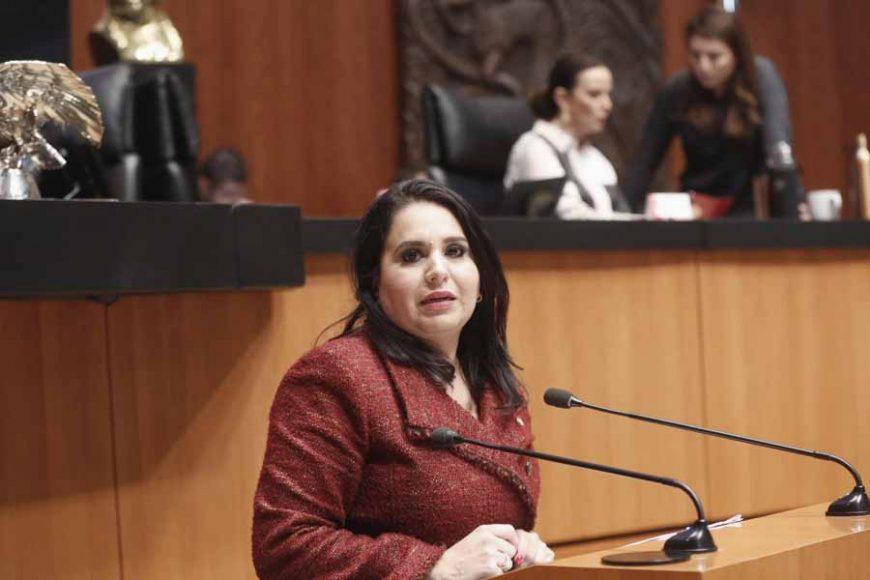 Senadora Mayuli Latifa Martínez presentar un dictamen en materia de la Ley de los Derechos de las Personas Adultas Mayores