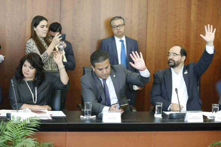 Participación del senador Damián Zepeda Vidales, durante la reunión de comisiones unidas de Gobernación, Derechos Humanos y Justicia