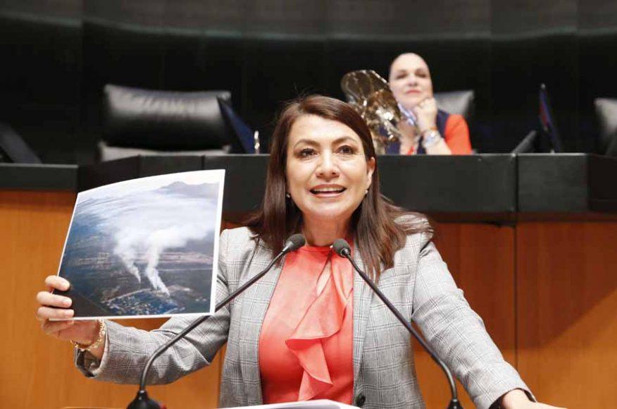 Intervención en tribuna de la senadora María Guadalupe Saldaña Cisneros, para presentar punto de acuerdo que exhorta a la Comisión Federal de Electricidad; y a la Procuraduría Federal de Protección al Ambiente, a realizar diversas acciones de reducción de contaminantes a la atmósfera que genera la planta termoeléctrica situada en La Paz, Baja California Sur.