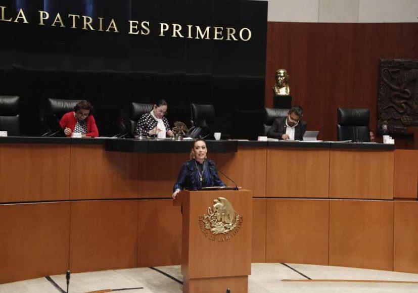 Intervención en tribuna de la senadora Alejandra Noemí Reynoso Sánchez, para fijar posicionamiento del PAN en relación con las recientes manifestaciones realizadas por el Presidente de los Estados Unidos de América sobre el narcotráfico.