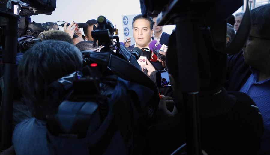 Entrevista concedida por el senador Damián Zepeda Vidales, previo al inicio de la reunión de comisiones unidas de Relaciones Exteriores América Latina y el Caribe, Relaciones Exteriores y de Justicia.