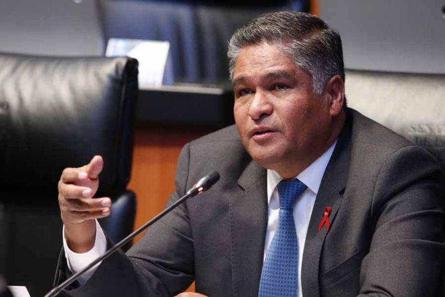 Intervención desde su escaño del senador Víctor Fuentes Solís, mediante el cual subraya que se debe de hacer justicia y fincar las responsabilidades en contra de los jueces que liberaron al ex esposo de la señora Abril Pérez.