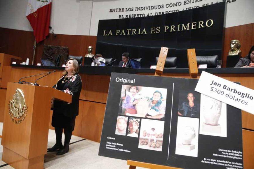 Senadora Xóchitl Gálvez Ruiz, al presentar el posicionamiento del GPPAN en relación con un dictamen de las comisiones unidas de Cultura, de Asuntos Indígenas