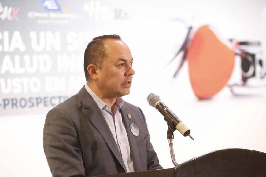 """Discurso del vicecoordinador del Grupo Parlamentario del PAN, Erandi Bermúdez Méndez, durante la inauguración del foro """"Hacia un sistema de salud inclusivo y justo en México""""."""
