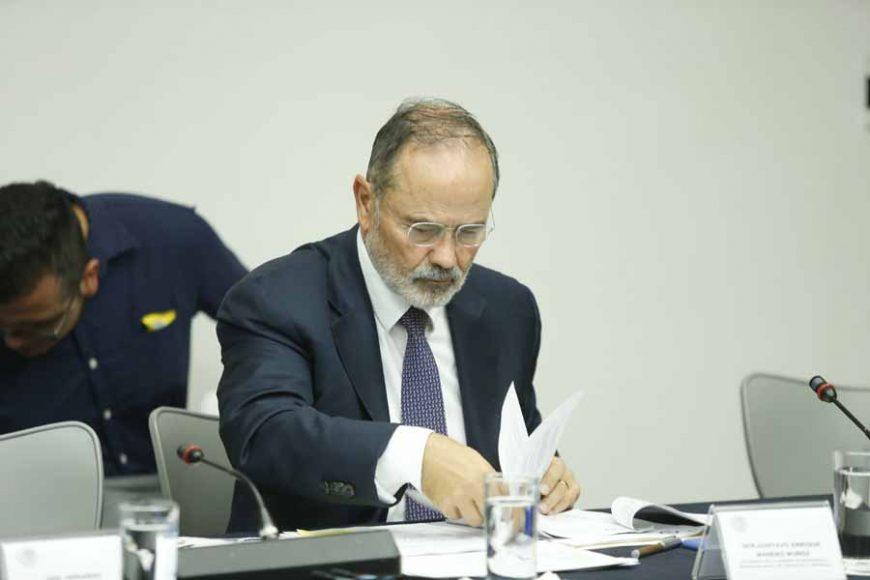 Participación del senador Gustavo Madero Muñoz, durante la reunión de la Comisión de Desarrollo y Bienestar Social.