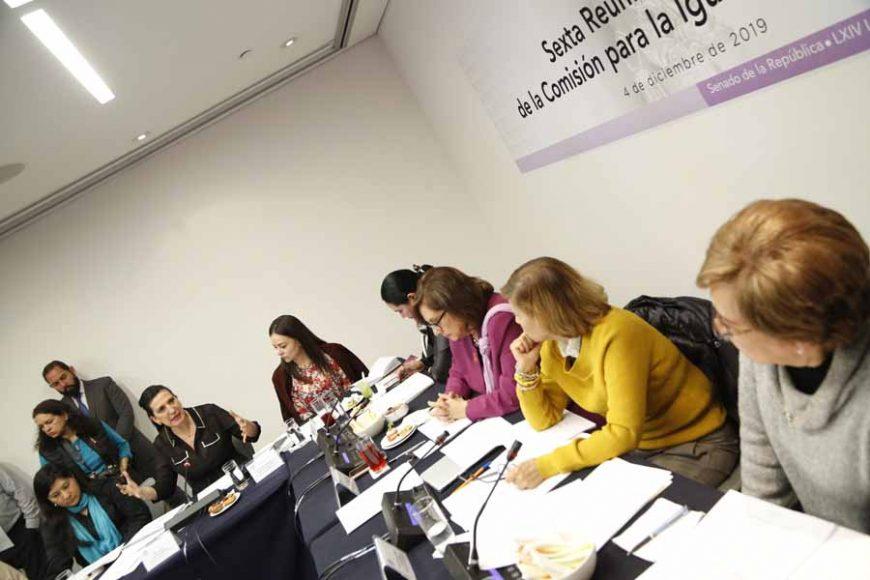 Intervención de la senadora Kenia López Rabadán, en la reunión de la Comisión para la Igualdad de Género