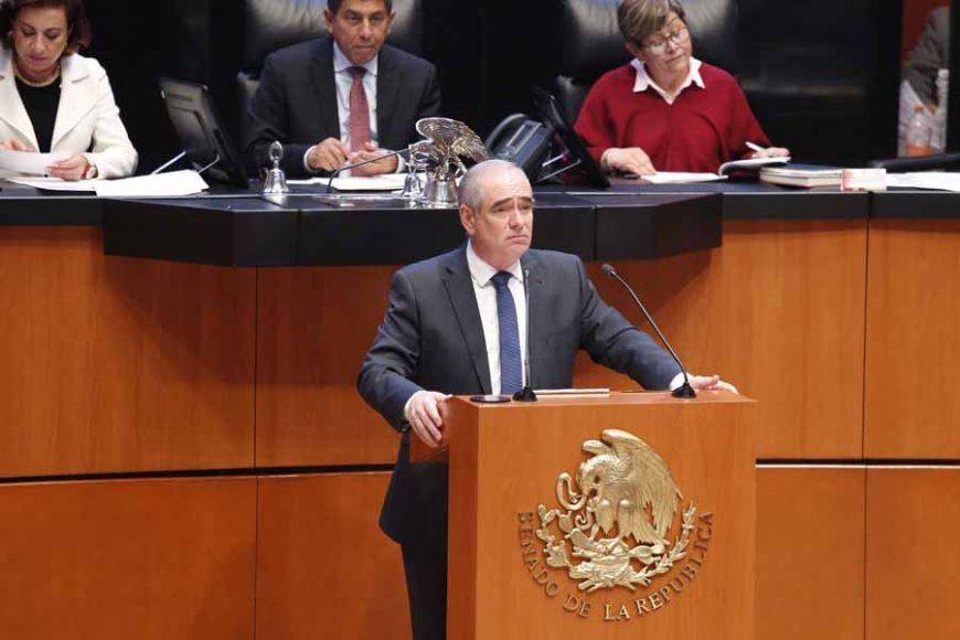 Senador Julen Rementería del Puerto, al presentar iniciativa con proyecto de decreto que reforma y adiciona diversas disposiciones del Código Penal Federal