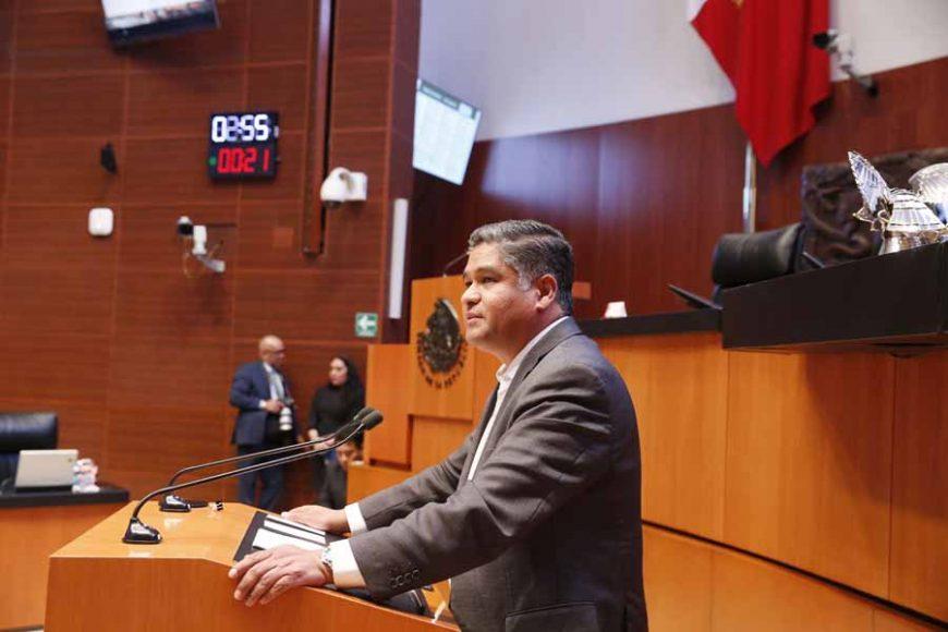 Intervención del senador Víctor Fuentes Solís, al presentar una iniciativa que adiciona un párrafo cuarto al artículo 155 del Código Nacional de Procedimientos Penales.