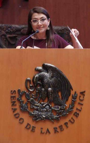 Senadora Guadalupe Saldaña Cisneros, al intervenir en Tribuna