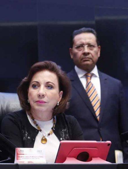 Senadora Guadalupe Murguía Gutiérrez, desde la Mesa Directiva del Senado