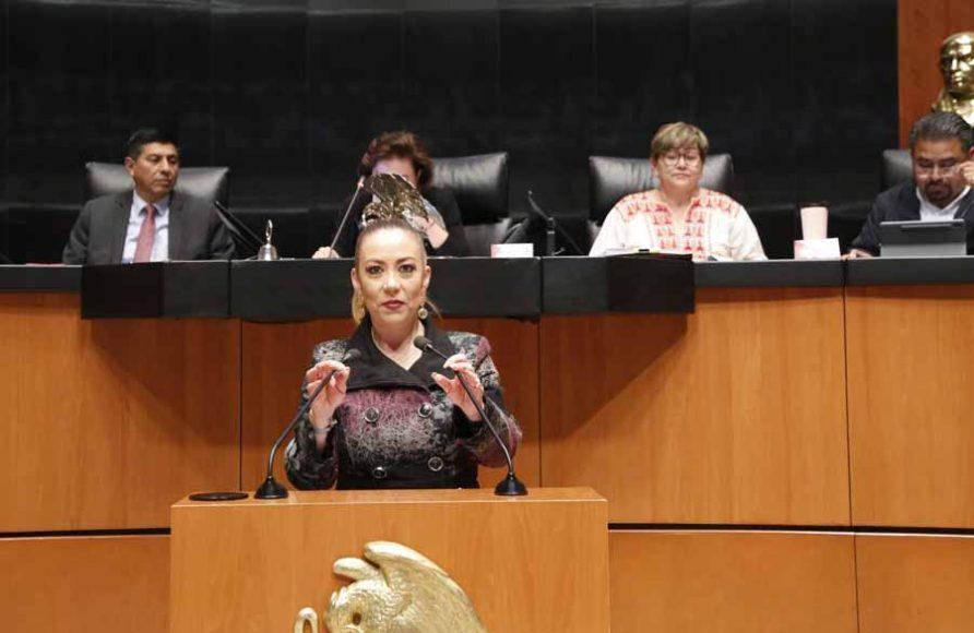 Intervención de la senadora Alejandra Reynoso Sánchez, al presentar una iniciativa que reforma el artículo 58 de la Ley Federal del Trabajo.