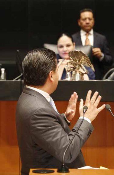 Intervención en tribuna del senador Damián Zepeda Vidales, para referirse a un dictamen de las comisiones unidas de Puntos Constitucionales; de Hacienda y Crédito Público; y de Estudios Legislativos, Segunda, relativo a la minuta con proyecto de decreto por el que se reforma el primer párrafo del artículo 28 de la Constitución Política de los Estados Unidos Mexicanos.