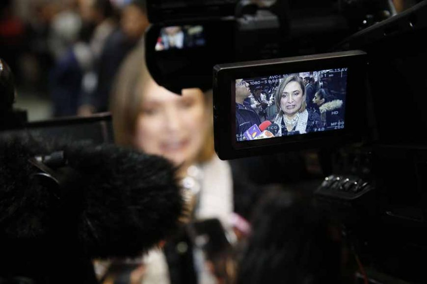 Entrevista concedida por la senadora Xóchitl Gálvez Ruiz, previo al inicio de la sesión de la Comisión Permanente que se desarrolla en el Palacio Legislativo de San Lázaro