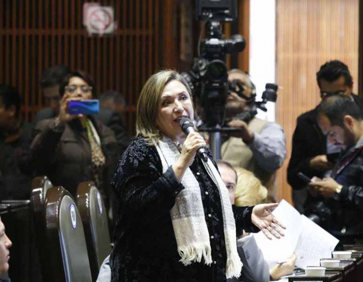 Intervención desde su curul de la senadora Xóchitl Gálvez Ruiz para referirse al orden del día, durante la sesión ordinaria de la Comisión Permanente del Congreso de la Unión.
