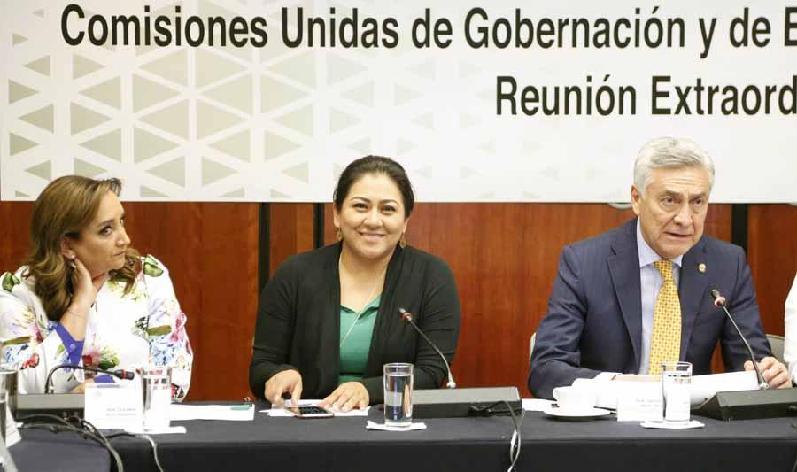 Participación de la senadora Nadia Navarro Acevedo, durante la reunión extraordinaria de las Comisiones Unidas de Gobernación, de Estudios Legislativos Segunda