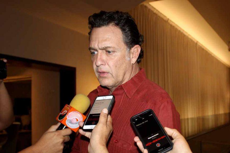 Senador Mauricio Kuri González, en entrevista en el primer día de la Reunión Plenaria de los Senadores del PAN