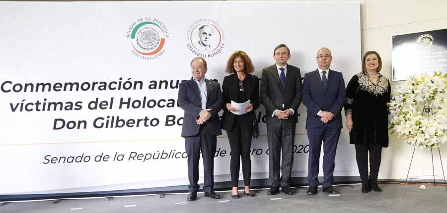 Intervención de la senadora Xóchitl Gálvez Ruiz durante el homenaje a Don Gilberto Bosques Saldívar.