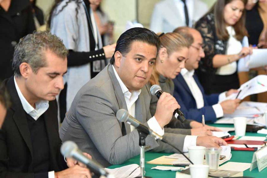 Intervenciones del senador Damián Zepeda Vidales, durante la reunión de trabajo de la Primera Comisión de la Permanente.