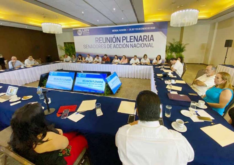Primer día de actividades de la reunión plenaria del GPPAN, previa al inicio del Segundo Periodo Ordinario de sesiones del Segundo Año de la LXIV Legislatura