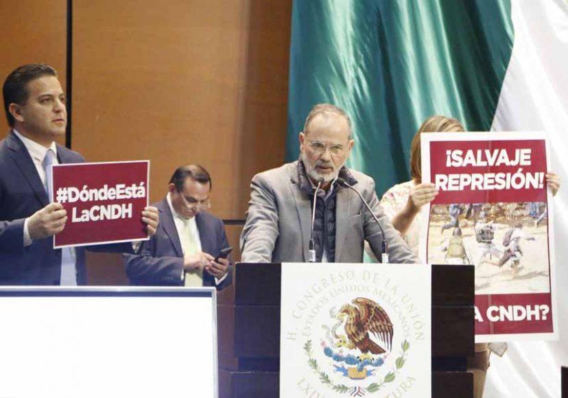 senador Gustavo Madero Muñoz, al presentar el posicionamiento del GPPAN en la sesión de la Comisión Permanente del Congreso respecto del Informe de Labores 2019 de la Comisión Nacional de los Derechos Humanos.