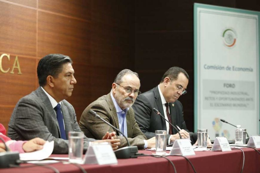 Senador Gustavo Madero Muñoz, al inaugurar el foro Propiedad Industrial, retos y oportunidades ante el escenario mundial.