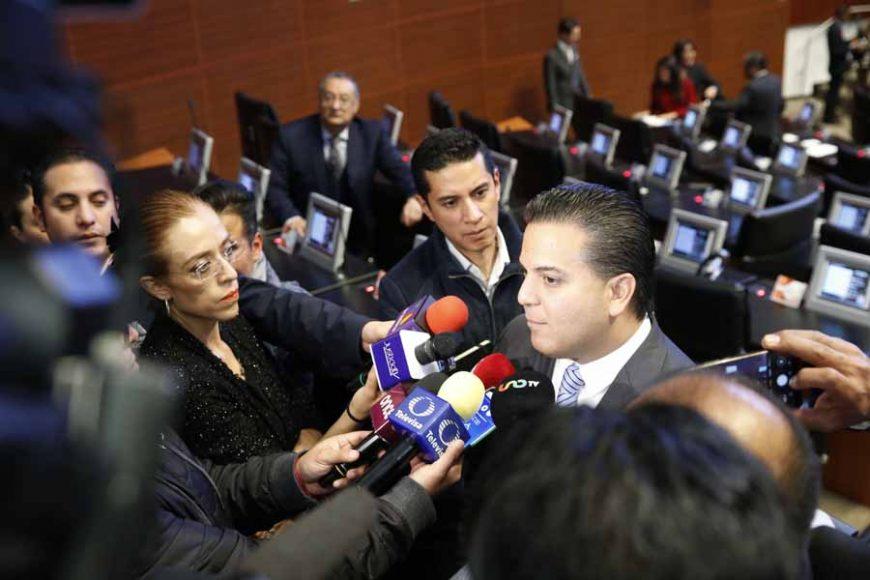 Audio de la entrevista concedida por el senador Damián Zepeda Vidales, previo al inicio de la sesión ordinaria