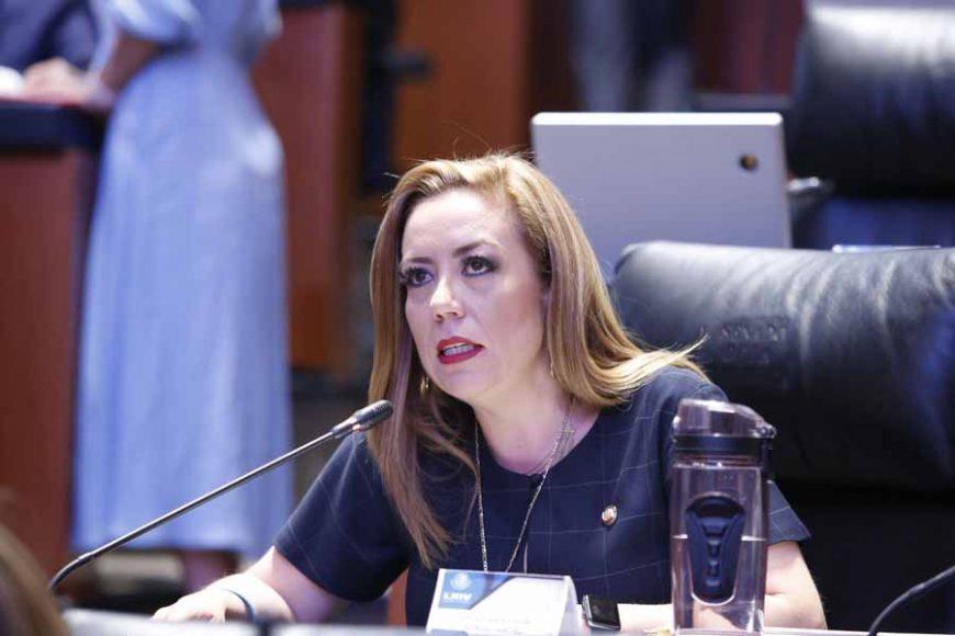 Intervención de la senadora Alejandra Reynoso Sánchez, desde su escaño, para referirse a las críticas contra el gobernador de Aguascalientes.