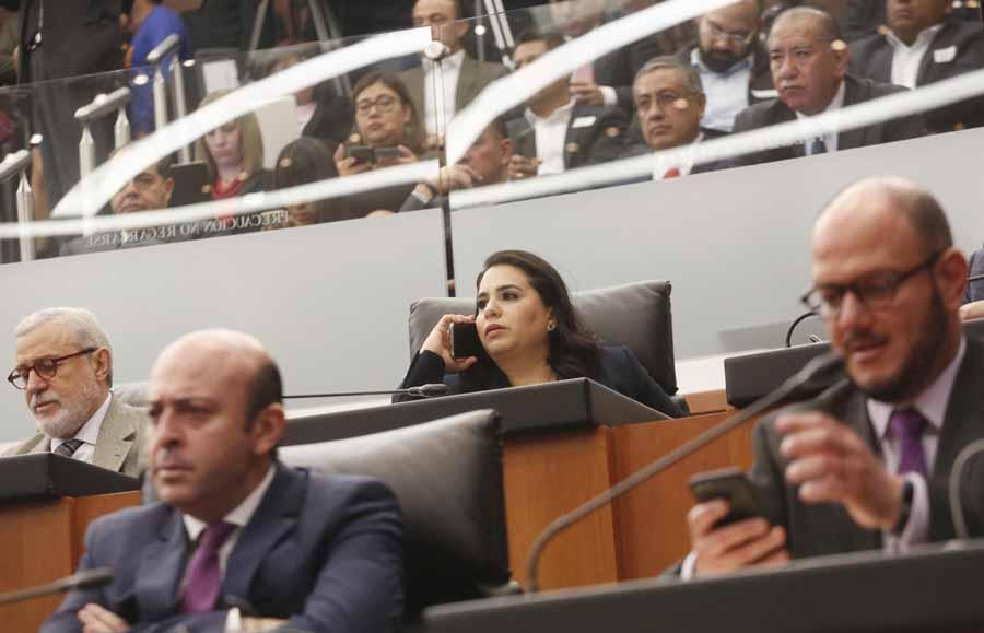 Senadora Mayuli Latifa Martínez en reunión de la Comisión de Trabajo, en el Parlamento Abierto en Materia de Subcontratación