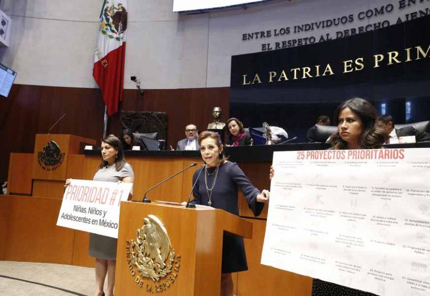 Intervención en tribuna de la senadora Josefina Vázquez Mota para referirse a los hechos ocurridos en los que fue privada de la vida una menor.