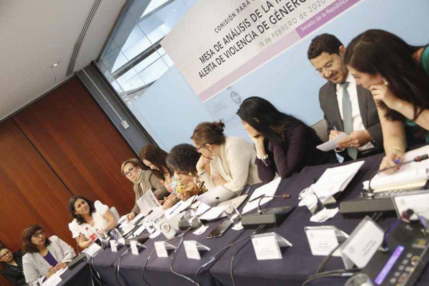 Senadora Nadia Navarro Acevedo en la mesa de análisis