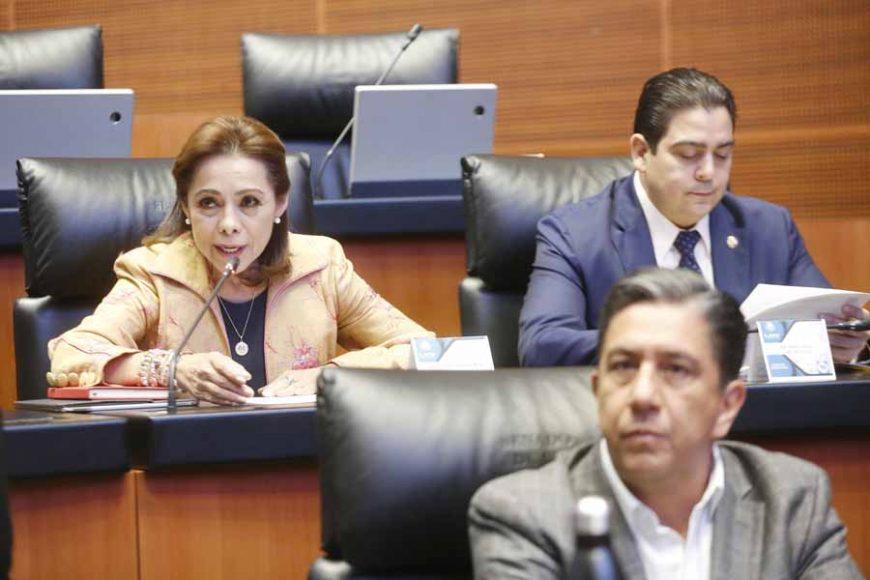 Itervención desde su escaño de la senadora Josefina Vázquez Mota para referirse a la Fundación Contra el Cáncer de Mama