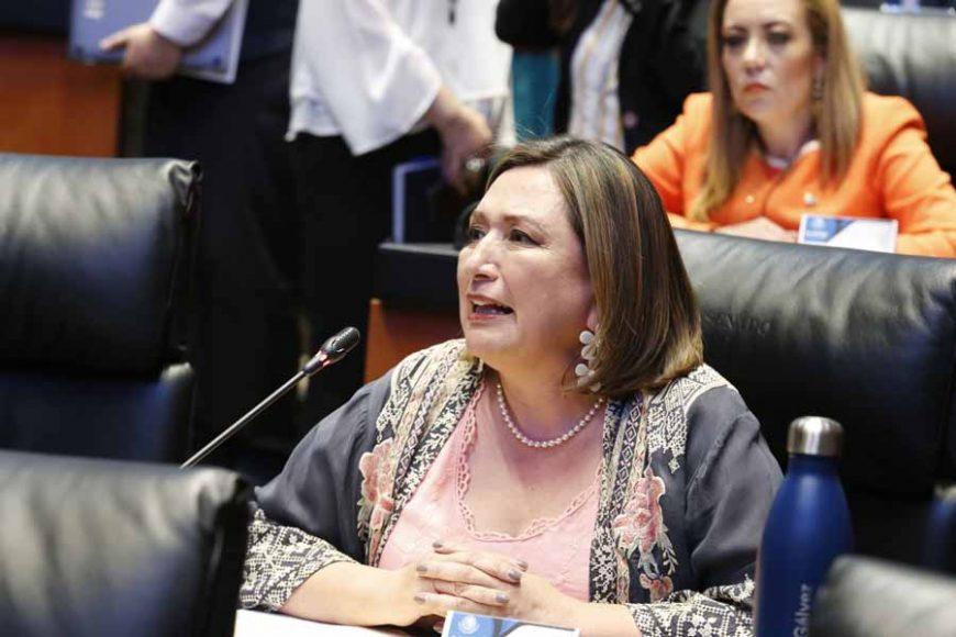 Intervención desde su escaño de la senadora Xóchitl Gálvez Ruiz, para referirse al acuerdo de la Junta de Coordinación Política y de la Mesa Directiva relativo al movimiento social convocado a llevarse a cabo el 9 de marzo