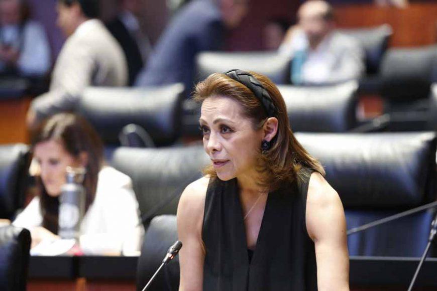 Intervención, desde su escaño, de la senadora Josefina Vázquez Mota para referirse al movimiento convocado para el 9 de marzo.