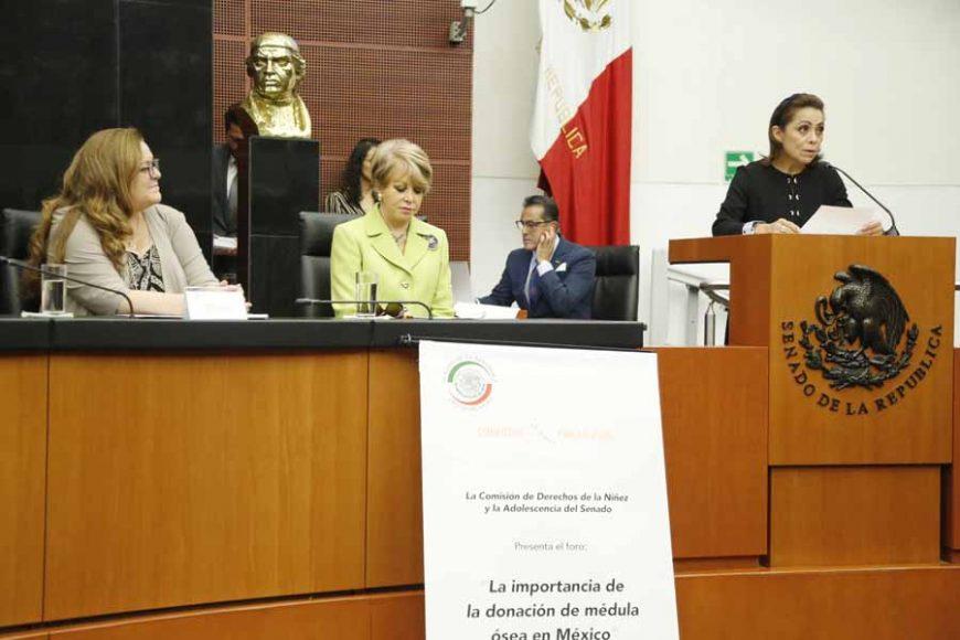 """Intervención de la senadora Josefina Vázquez Mota en el foro """"La importancia de la donación de médula ósea en México""""."""