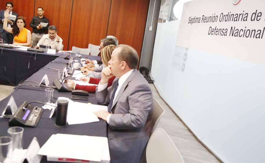 Senadora Kenia López Rabadán participa en reunión de la Comisión de Defensa Nacional