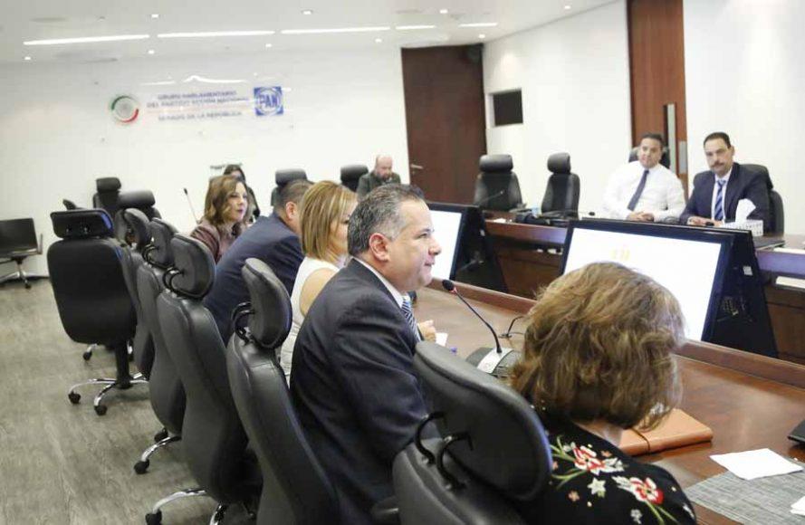 Recibe GPPAN al titular de la Unidad de Inteligencia Financiera (UIF), Santiago Nieto.