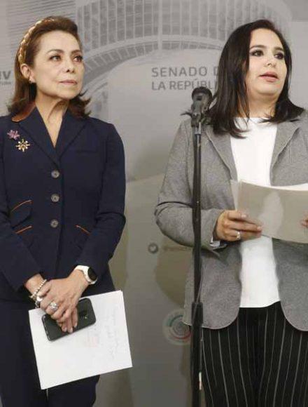 Conferencia de prensa ofrecida por las senadoras Mayuli Martínez Simón y Josefina Vázquez Mota, para hablar sobre una iniciativa que propone crear cuatro días de convivencia familiar que coincidan con los viernes de Consejo Técnico Escolar
