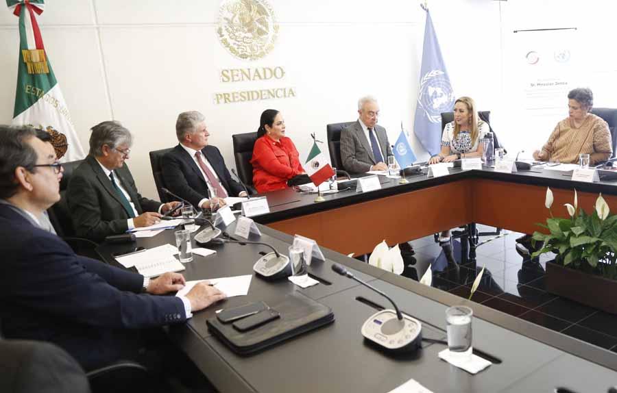 Intervención de la senadora Alejandra Reynoso Sánchez en la reunión convocada por la Comisión de Relaciones Exteriores, para recibir la visita de Miroslav Jenca, secretario general adjunto de Asuntos Políticos para las Américas, Europa y Asia Central de la ONU
