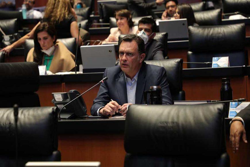 Intervención, desde su escaño, del Coordinador de los senadores del PAN, Mauricio Kuri González, sobre violencia política de género.