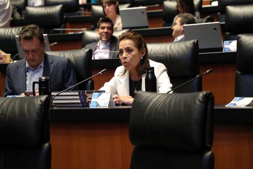 Intervención, desde su escaño, de la senadora Josefina Vázquez Mota, sobre violencia política de género en el Senado.