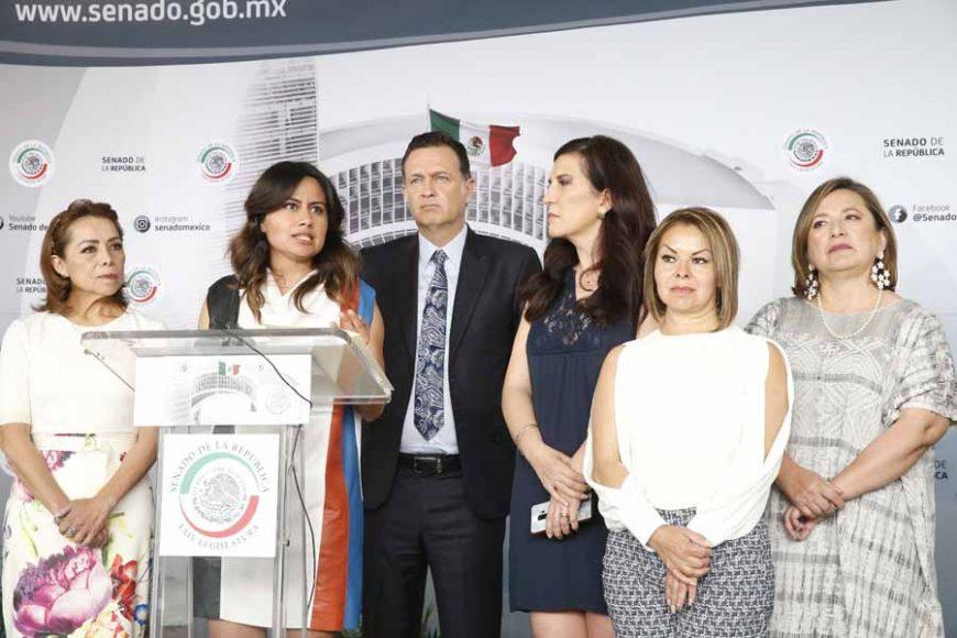 Senadora Indira Rosales San Román, en conferencia de prensa habla sobre los resultados en materia de seguridad a un año de la creación de la Guardia Nacional