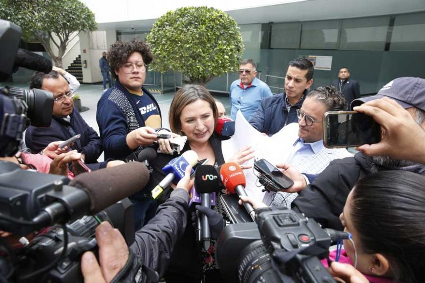 Entrevista concedida por la senadora Xóchitl Gálvez Ruiz, para referirse a la investigación por espionaje que se realiza por parte de la Fiscalía General de la República. No hay ninguna duda, es espionaje: Xóchitl Gálvez