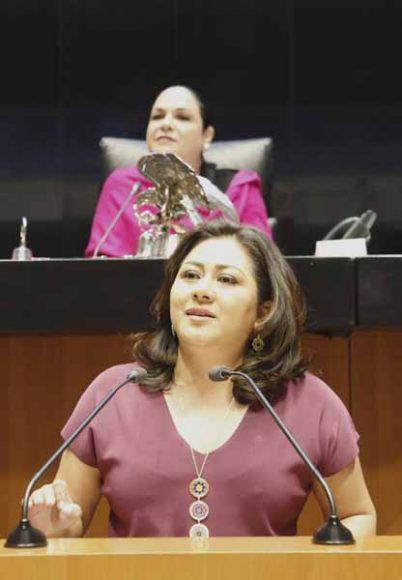 Discurso de la senadora Nadia Navarro Acevedo, para emitir el posicionamiento del Grupo Parlamentario del PAN, durante la sesión solemne con motivo de la conmemoración del Día Internacional de la Mujer.
