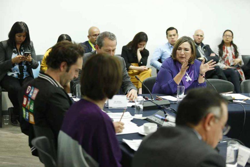 Participación de la senadora del PAN Xóchitl Gálvez Ruiz, al participar en la reunión Extraordinaria de la Comisión de Zonas Metropolitanas y Movilidad.